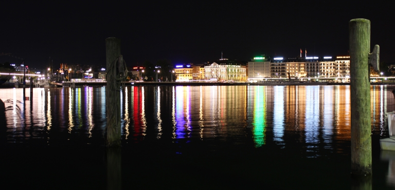 Geneva at night