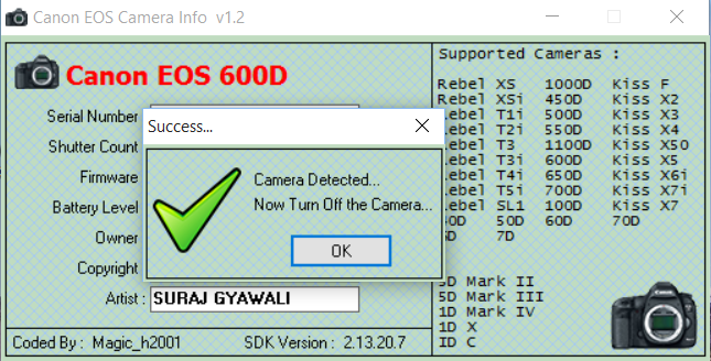 how to check firmware canon 7d